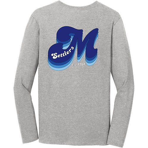 M Long sleeve t-shirt (Available in white and gray)