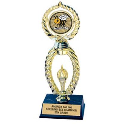 3 x 10 Single Base Torch Trophy