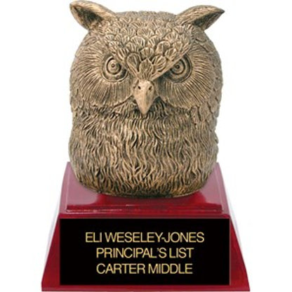 Sculpted Owl Trophy