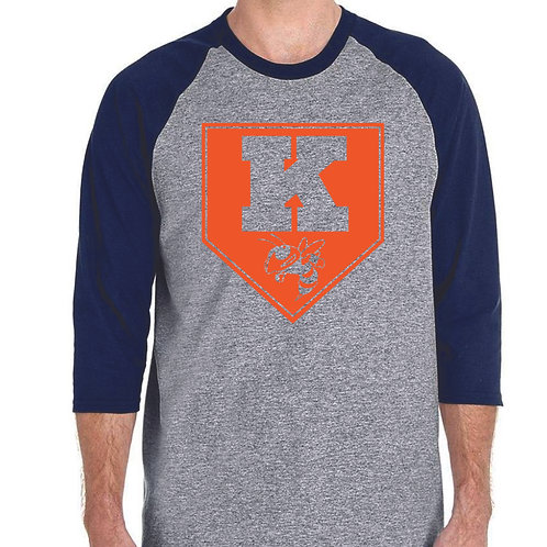 Kingston baseball gray 3/4 sleeve design 2