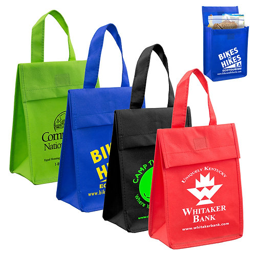 80GSM Non-Woven 'Bag-it' Value Priced Lightweight Lunch Tote- Box of 200