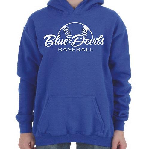 Harriman baseball hoodie (design 2) blue