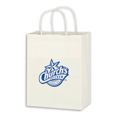 White Paper Shopping Bags- Box of 500