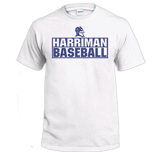 Harriman Baseball t-shirt  (design 3 ) - white