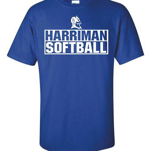 Harriman Softball t-shirt  (design 3 ) - Blue
