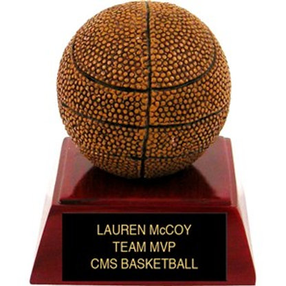 Sculpted Colored Basketball Trophy