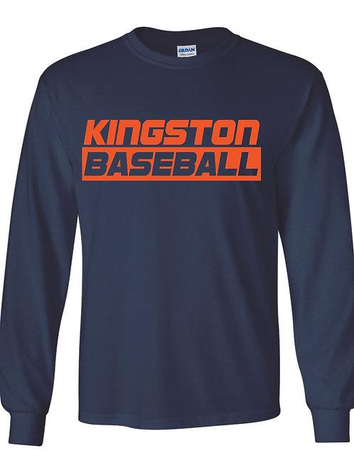 Kingston Baseball long sleeve design 3 Navy