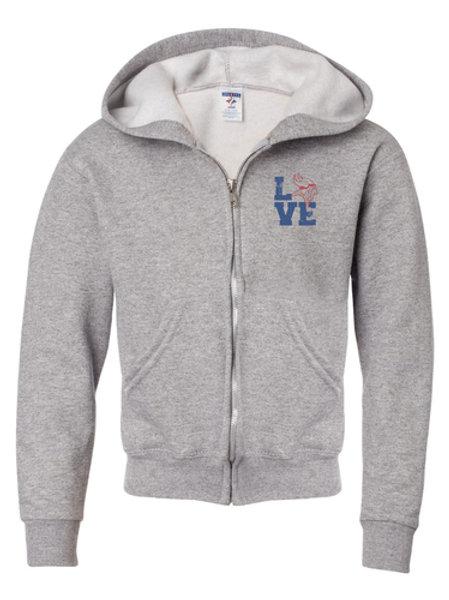 Jerzees hoodie full-zip screen printed (No minimum)