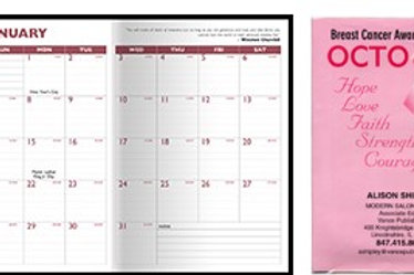"""Customized Full-Color Digital 7"""" x 10"""" Monthly Planner - Box of 100"""