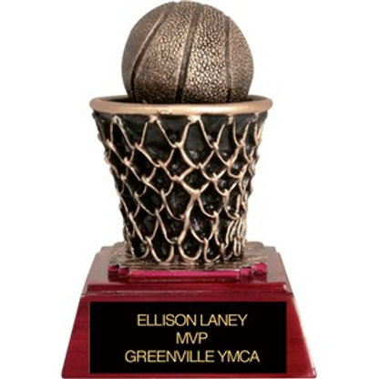 Sculpted Basketball Trophy
