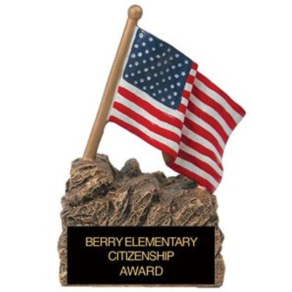 Sculpted Flag Trophy