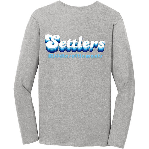 Settlers long sleeve t-shirt in gray
