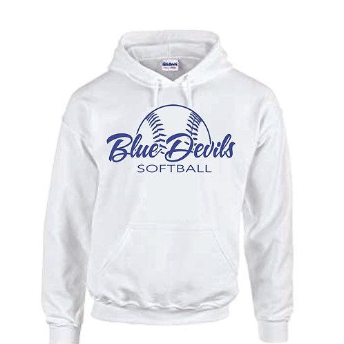 Harriman softball hoodie  (design 2 ) - white