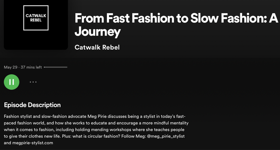 Podcast - Catwalk Rebel - From Fast Fashion to Slow Fashion: A Journey