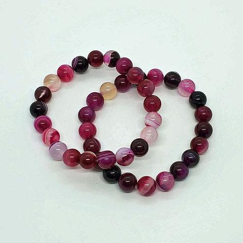 Pink Agate Stretch Bracelet