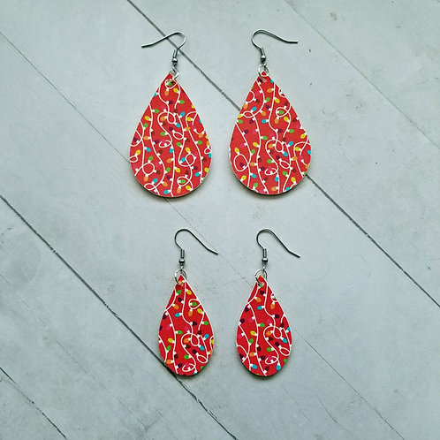 Red Christmas Lights Earrings