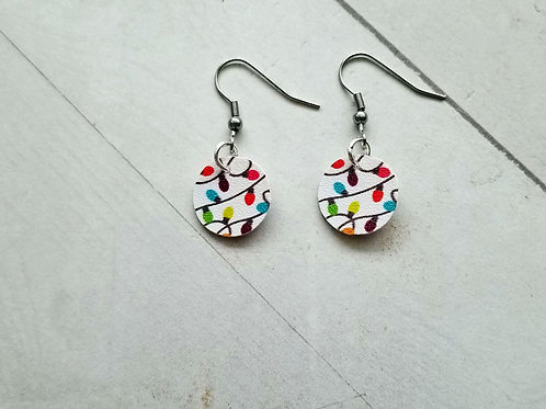 Small Christmas Lights Earrings