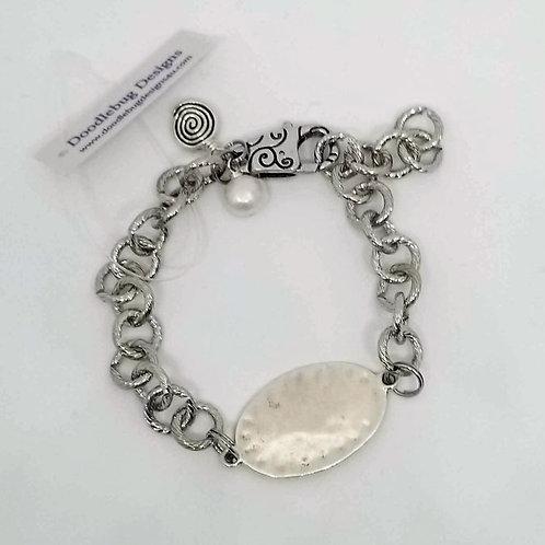 Silver Oval Bracelet