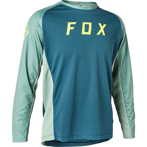 FOX Maglia Maniche Lunghe Defend Ls Jersey - Slate Blue