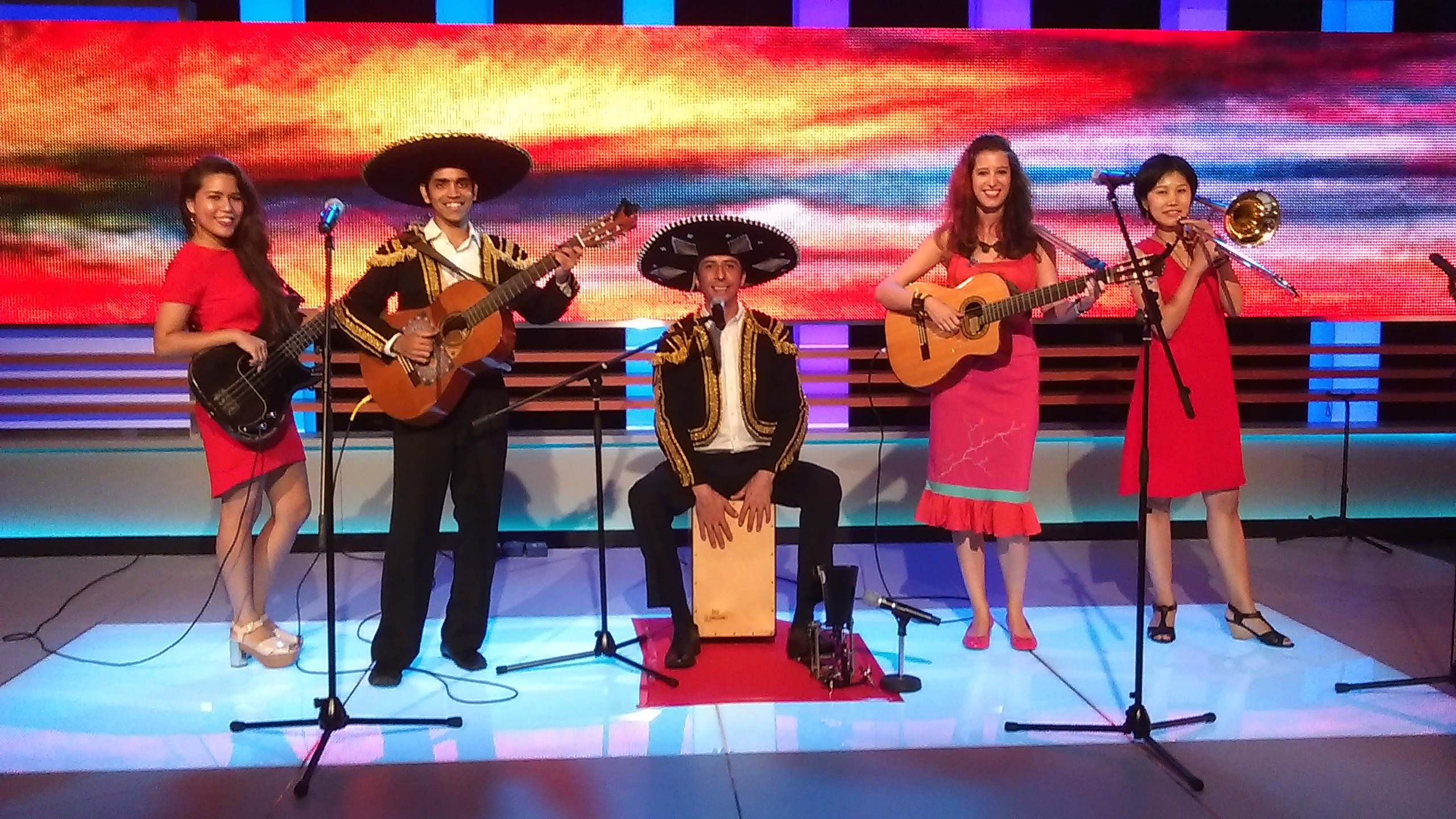 Mariachi Band Singapore Los Cucurrus TV PIC