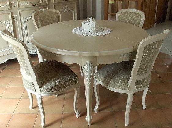 Chaise tapissée ancienne, patinée lin chanvre, style Louis XV, en hêtre massif.