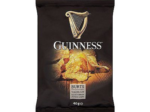 Burts Guinness Thick Cut Hand Cooked Crisps - 20 x 40g