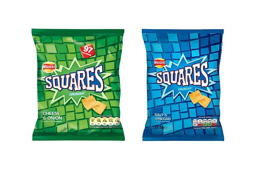 Walkers Squares 16 Bags