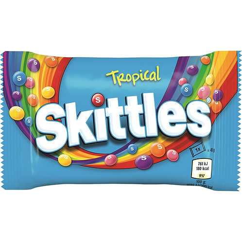 Tropical Skittles Flavour Sweets 18 bags x 55g
