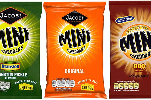 McVities & Jacobs Flavour Mini Cheddars biscuits Baked Snack 15 x 50g