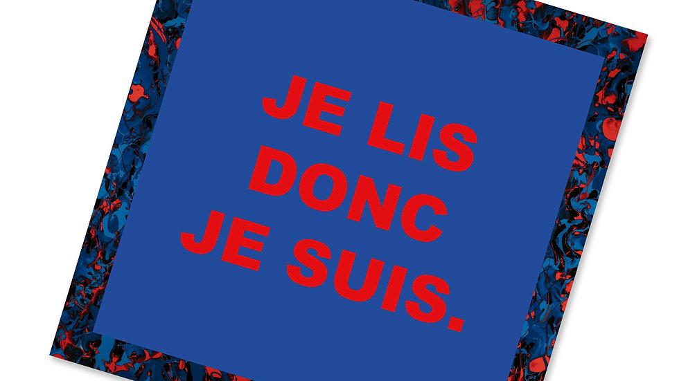 """Sticker """"Je lis donc je suis"""""""