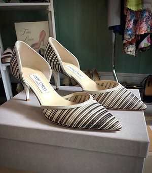 Jimmy Choo Striped d'Orsay Pump