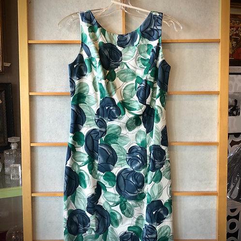 Green & Blue Floral Dress