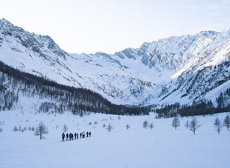 ciaspolate in Piemonte e Valle D'Aosta