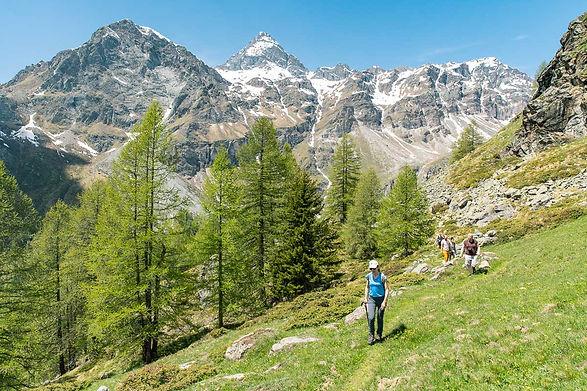 escursionisti in val d'ayas