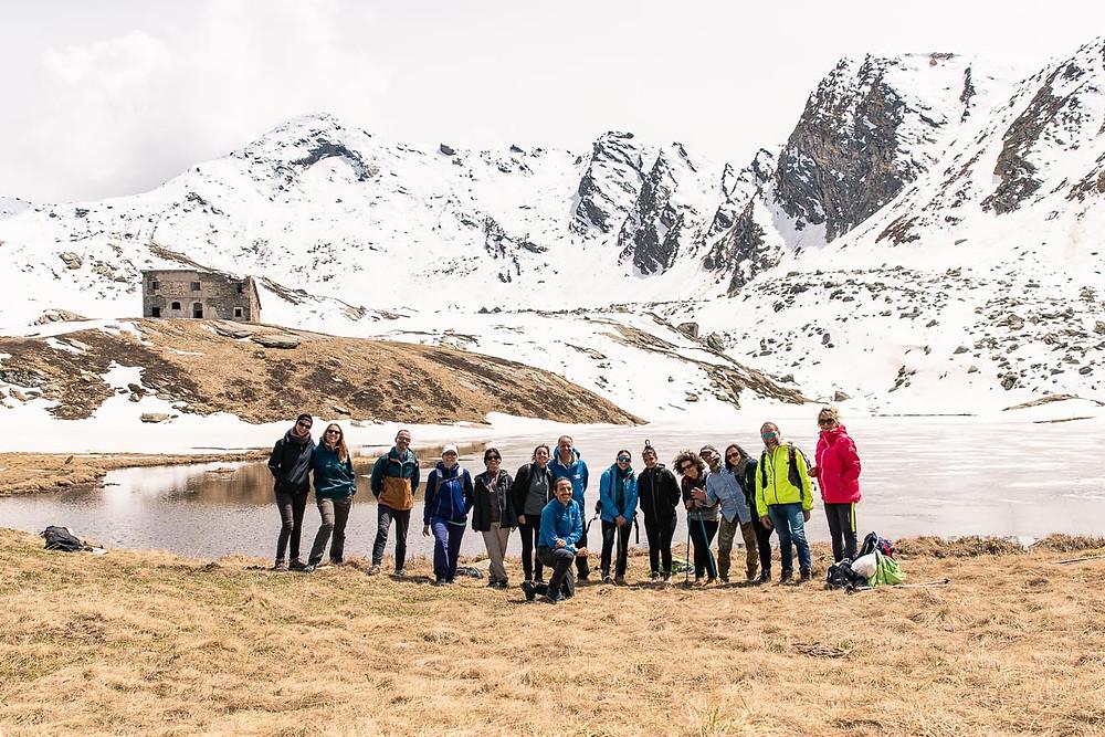 Gruppo di escursionisti in Valle Germanasca