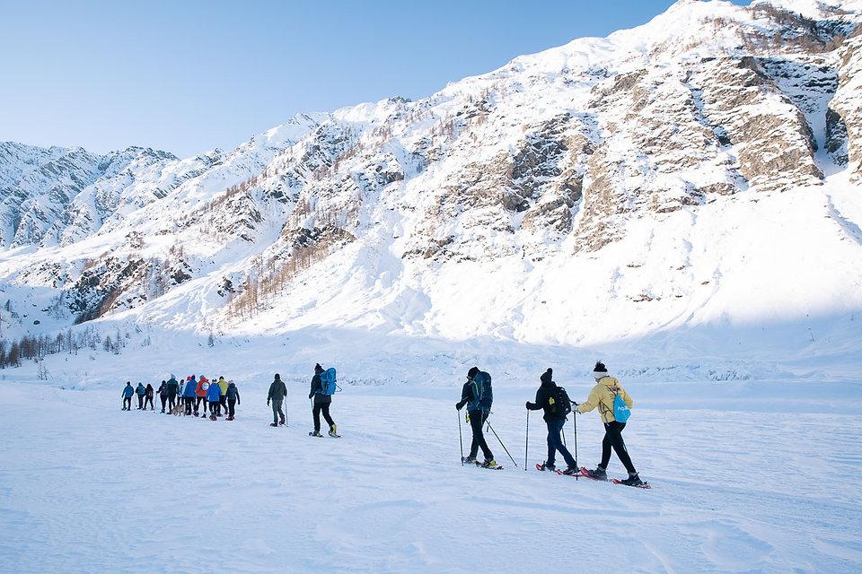 Ciaspolata in Valle d'Aosta e Piemonte