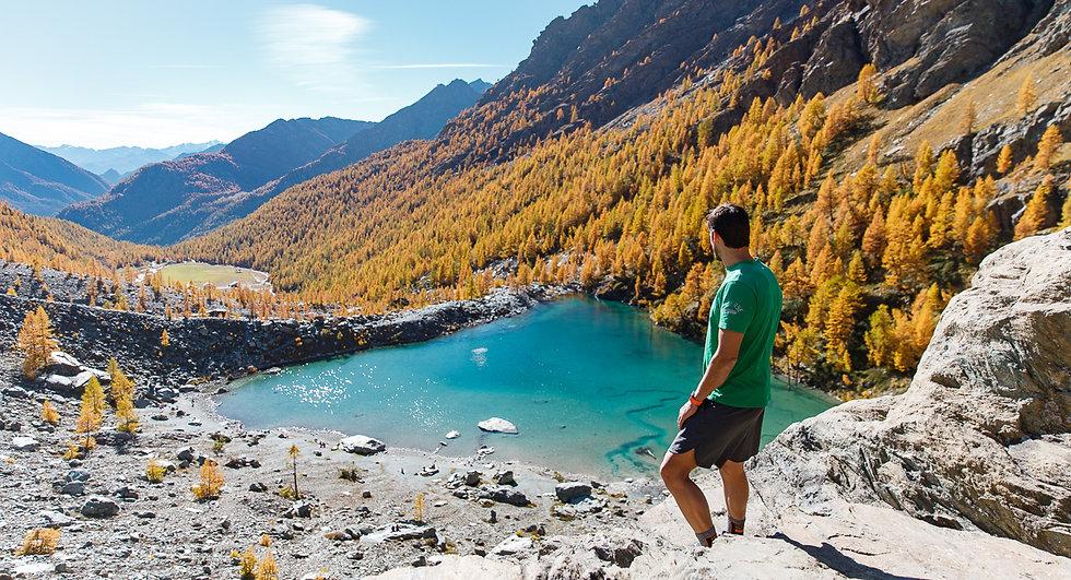 Lago Blu in Val d'Ayas - Valle d'Aosta