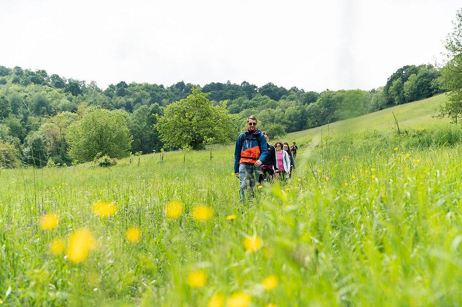Escursionisti in collina a Torino