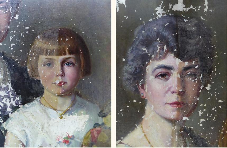 Avant/après allègement de vernis sur les visages
