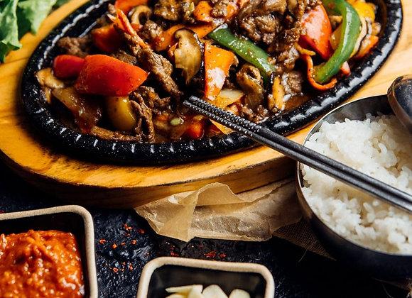 Пульгоги с говядиной и овощами
