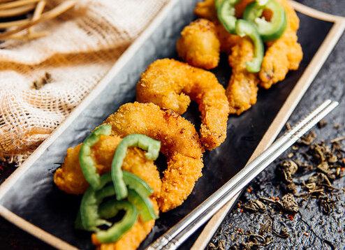 Темпура с креветкой и овощами