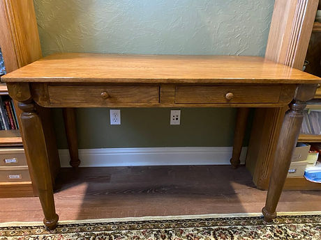 Custom wooden desk to match existing off