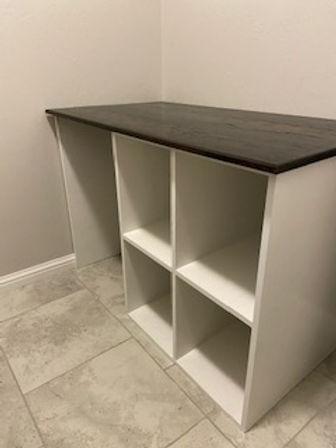 custom desk, laundry room, laundry foldi