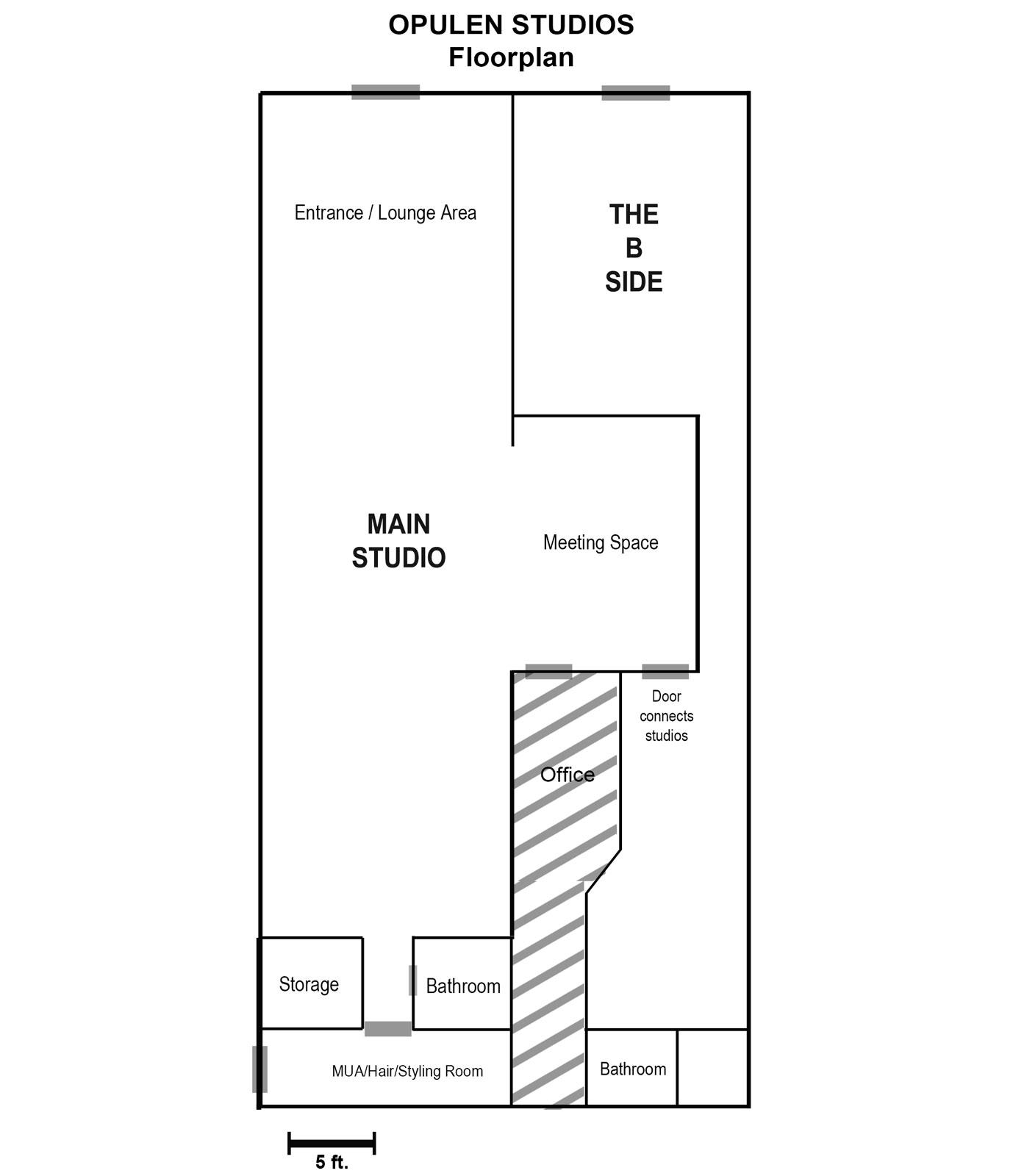 Opulen Studios Floor Plan