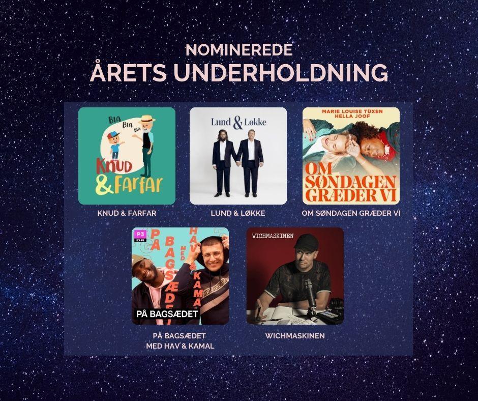 De nominerede - Årets underholdning