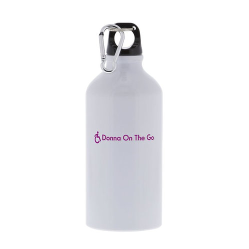Donna On The Go 17 oz. Personalized aluminum sports bottles - white