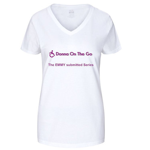 Donna On The Go Ladies V Neck Shirt