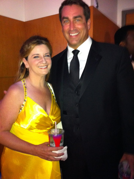 with Rob Riggle from Gary Unmarried at the Emmys