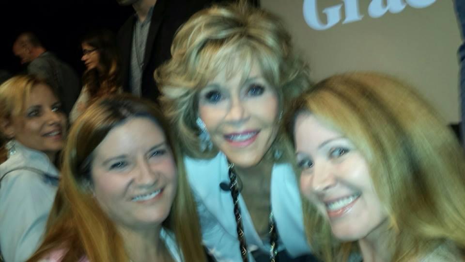 with Jane Fonda