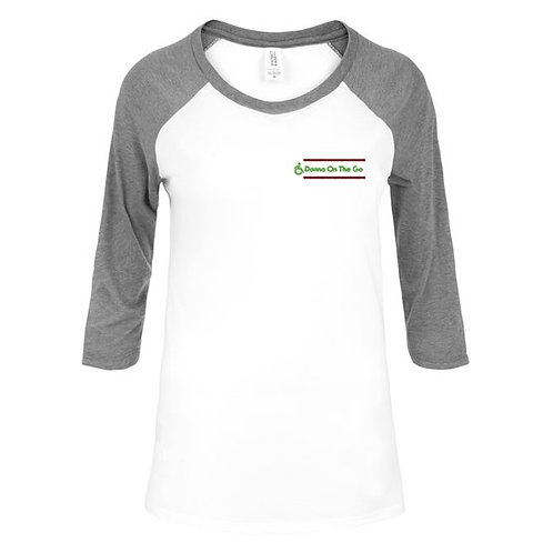 Donna On The Go Jersey White with Grey, Red and Green Logo